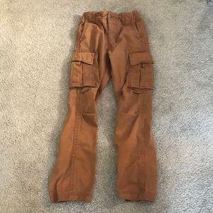 Gap brown cargo  boy pants 12 (slim)